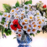 Daisy Vase Diamond Painting Kit