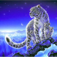 Mountain Tiger Cubs Diamond Painting Kit