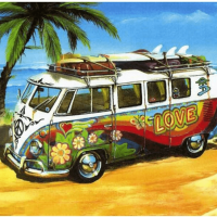 Beach Surf Van Diamond Painting Kit