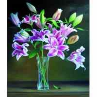 Elegant Flower Vase Diamond Painting Kit