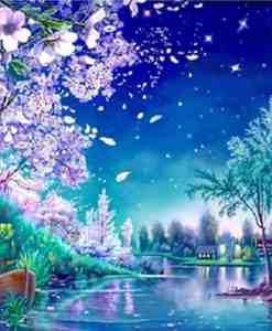 Diamond Painting Nachtelijke scene - 30x40 CM - Volledig - SEOS Shop ®