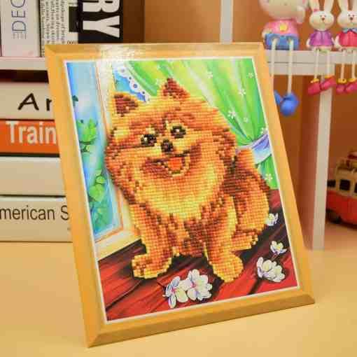 Diamond Painting Pakket voor kinderen - Hondje