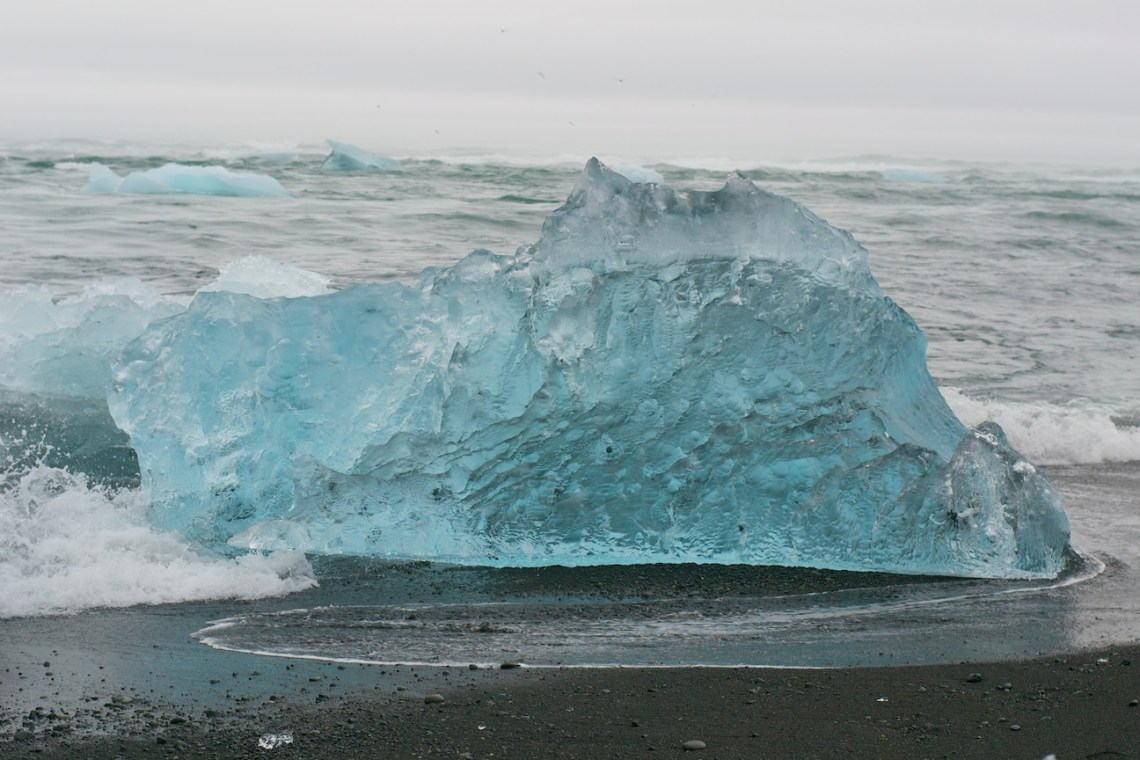 Crystal Clear Ice at Beach