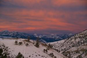 Sunset at Yellowstone National Park