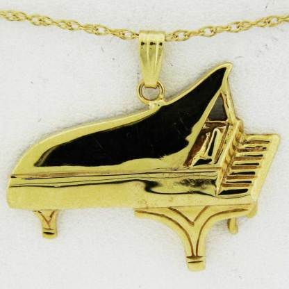 Yellow Gold Grand Piano Pendant (smooth)