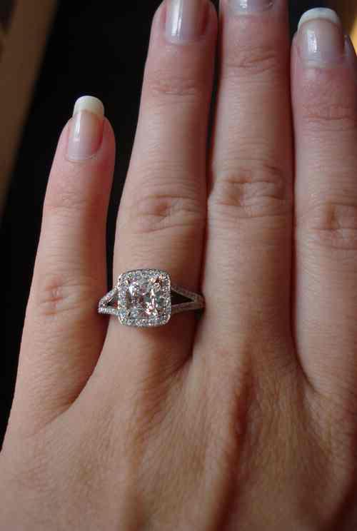125Halo Diamond Ring 125 DVVS2 GIA Cushion Diamond