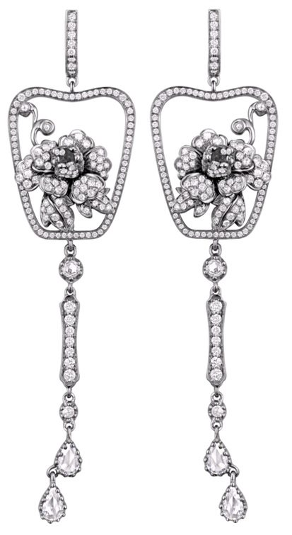 Annoushka Yewn Imperial Fan Earrings. Via Diamonds in the Library.