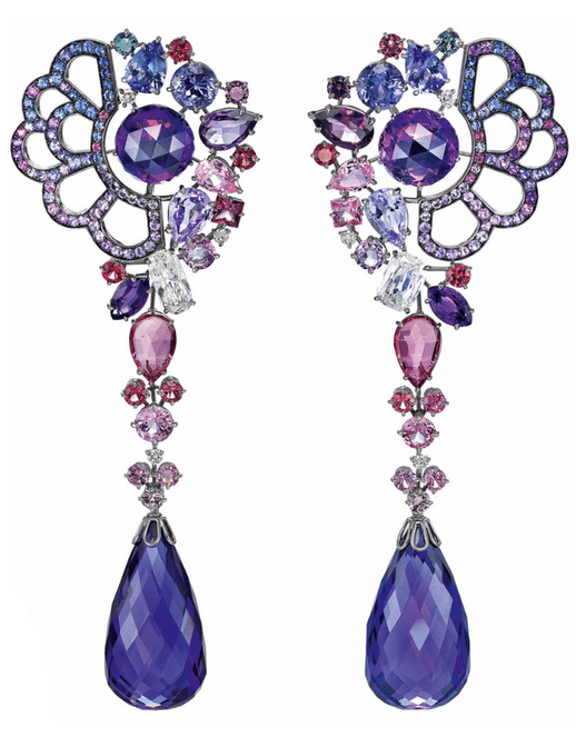 Earrings inspired by Belle from Beauty and the Beast. From Disney and Chopard's Disney princess collection. Via Diamonds in the Library.
