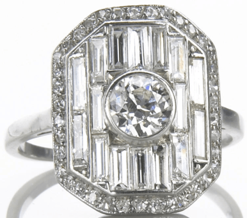 Alternate view of Art Deco diamond panel ring by Lacloche Freres. Via Diamonds in the Library.