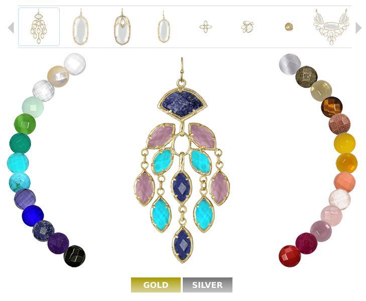 Kendra Scott jewelry color bar.