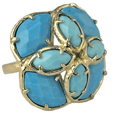 Otylia Ring, Splash. Dyed agate & magnesite. By Kendra Scott. Via Diamonds in the Library.