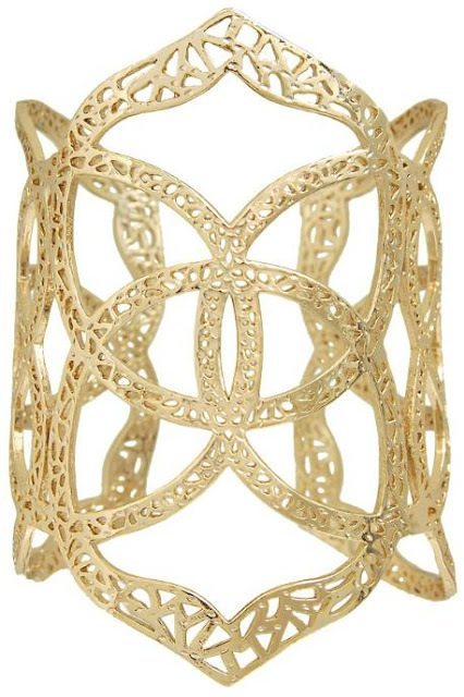 Roni Cuff Bracelet in gold. By Kendra Scott. Via Diamonds in the Library.