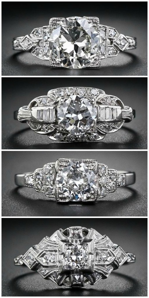 Ring roundup - Art Deco engagement rings from Lang Antiques.