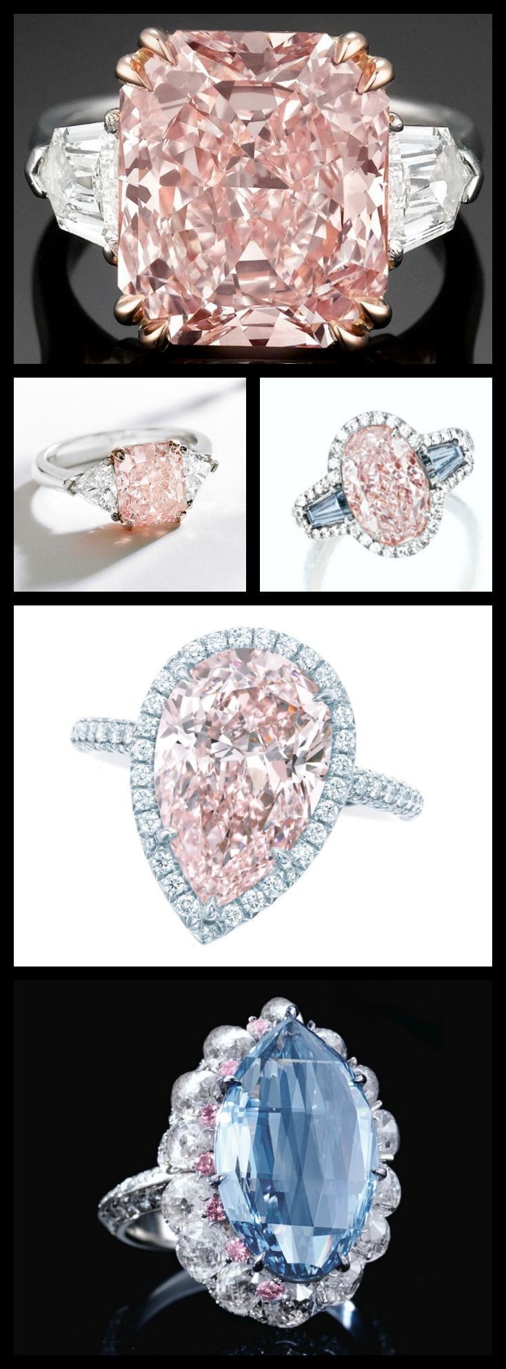 Pink diamond rings on Diamonds in the Library