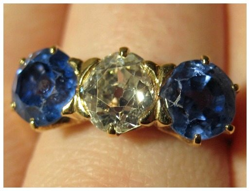 Victorian sapphire and diamond ring from The Antique Guild in Old Town Alexandria, VA.