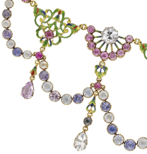 A spectacular Renaissance-revival necklace by Carlo and Arthur Giuliano.