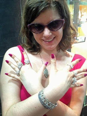 Becky all decked out in Tacori diamonds.