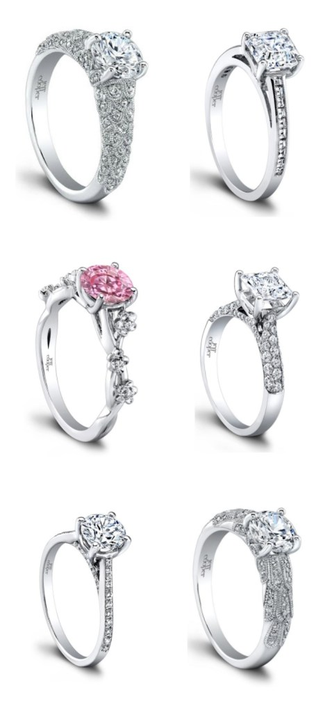 Beautiful engagement rings designed by Jeff Cooper.