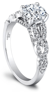 The Abigail diamond engagement ring by Jeff Cooper. Via Diamonds in the Library.