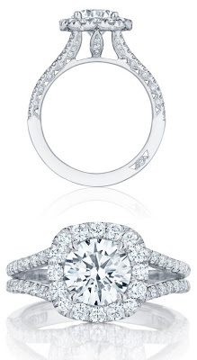 Diamond engagement ring by Tacori. This baby brings some serious bling.