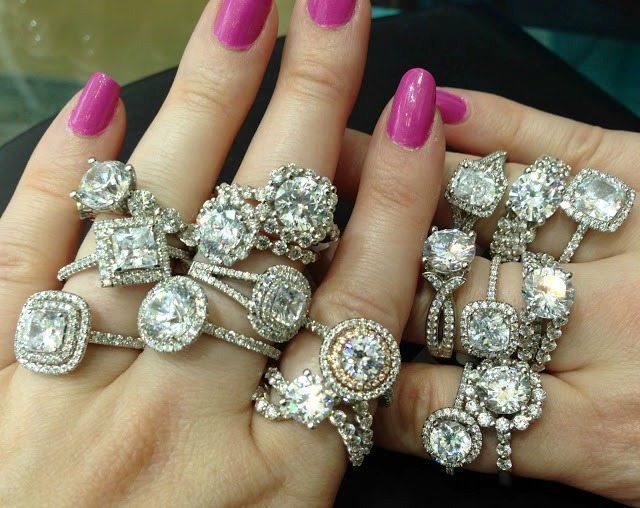 Sasha Primak diamond engagement rings at Mervis Diamond Importers. Via Diamonds in the Library.