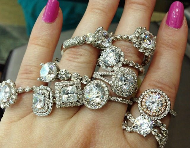 Diamond engagement rings by Sasha Primak. Via Diamonds in the Library.