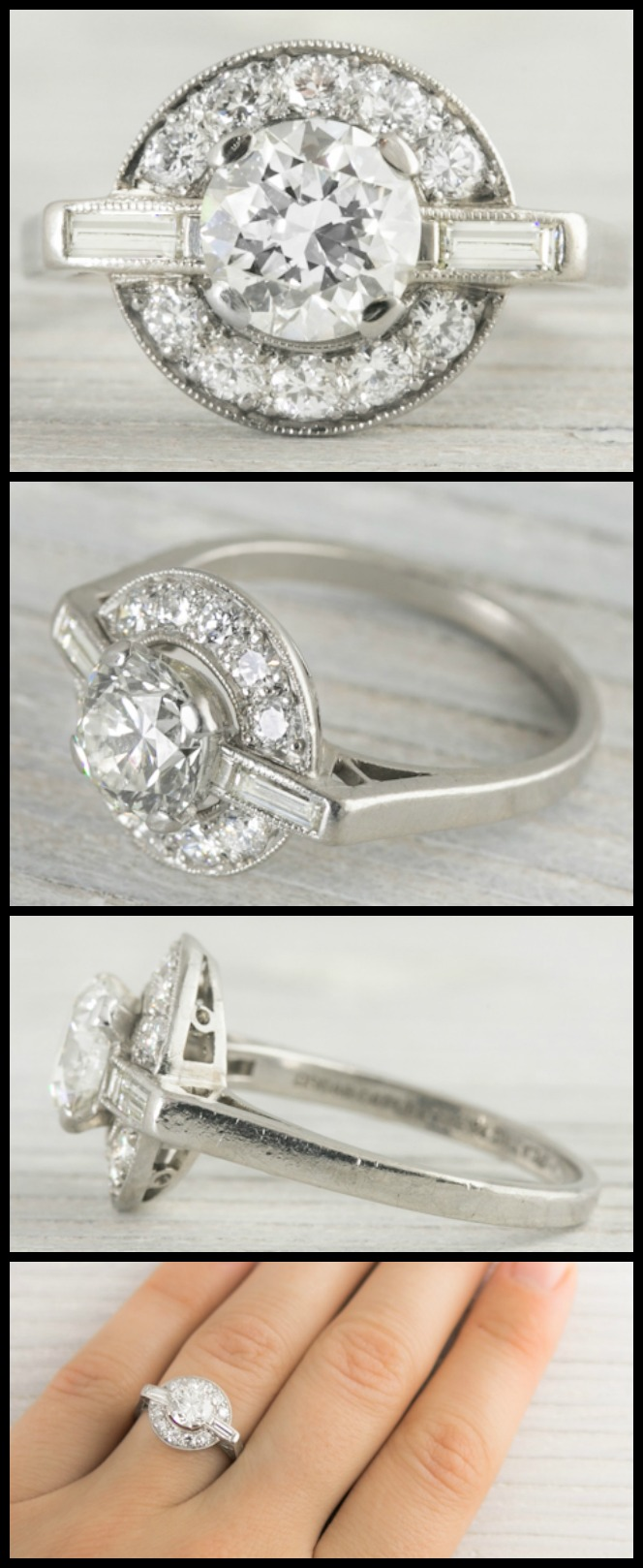 Wedding Ring With Names 87 Fresh Antique Art Deco engagement