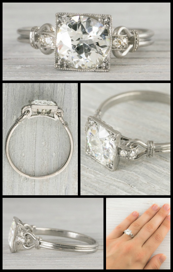 Settings For Wedding Rings 84 Awesome Antique Art Deco engagement