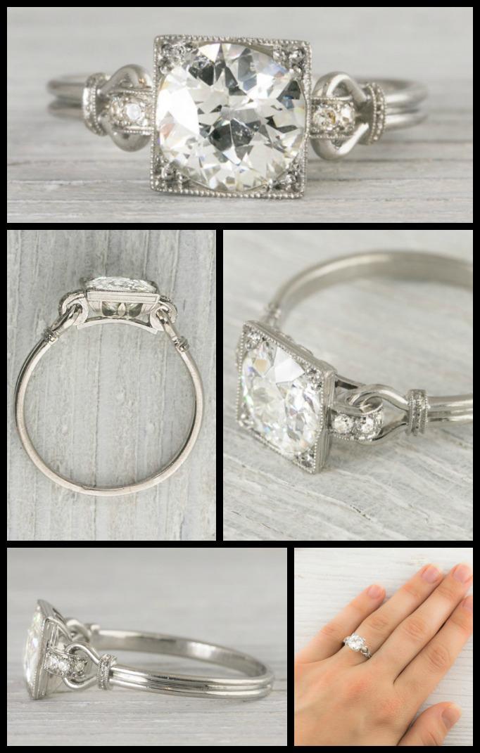 Vintage Wedding Ring Settings 69 Fancy Antique Art Deco engagement