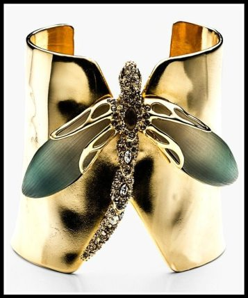 Alexis Bittar 'Lucite® - Neo Bohemian' Dragonfly Cuff Bracelet. Via Diamonds in the Library's jewelry gift guide.