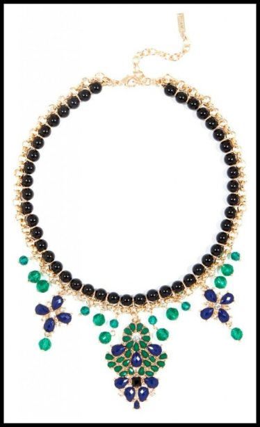 BaubleBar Teavaro Bib necklace. Via Diamonds in the Library's jewelry gift guide.