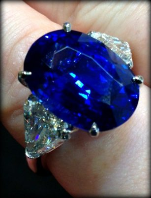 Sapphire and diamond ring by JB Star. Via Diamonds in the Library.