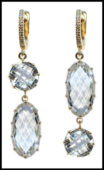 Anzie Circle and Oval White Topaz Earrings. Via Diamonds in the Library's jewelry gift guide.