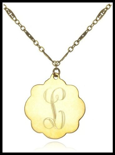 Soixante Neuf Small Engraved Flower Pendant. Via Diamonds in the Library's jewelry gift guide.