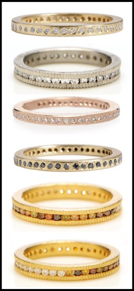 Todd Reed diamond rings: perfect as stacking bands, stand-alones, or wedding bands. Via Diamonds in the Library.