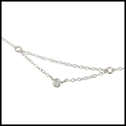 """Chained to my heart"" dainty diamond necklace by Catbird. Via Diamonds in the Library."