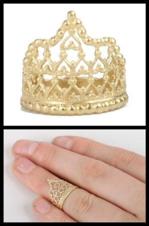 Elizabeth Knight Her Majesty's Crown ring, at Catbird. Via Diamonds in the Library.