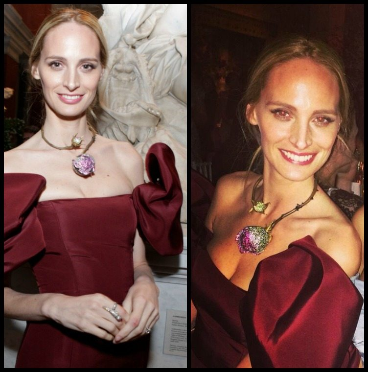 Lauren Santo Domingo in a JAR rose necklace at the 2014 Met Gala.