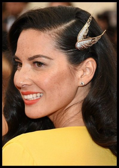 Olivia Munn's hair jewelry at the 2014 Met Gala.