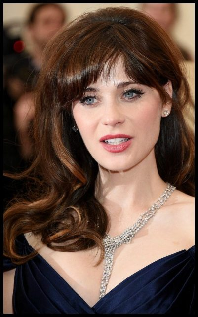 Zooey Deschanel's Met Gala 2014 jewelry.