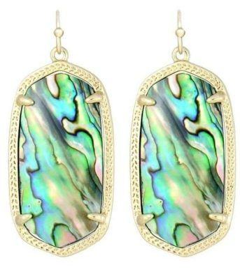 Kendra Scott Signature Elle earrings in abalone & gold - Limited Edition.