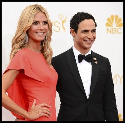 Heidi Klum and Zac Posen at the 2014 Emmy awards