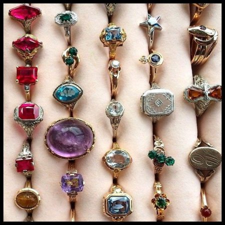 Vintage and antique rings for sale at Maejean Vintage