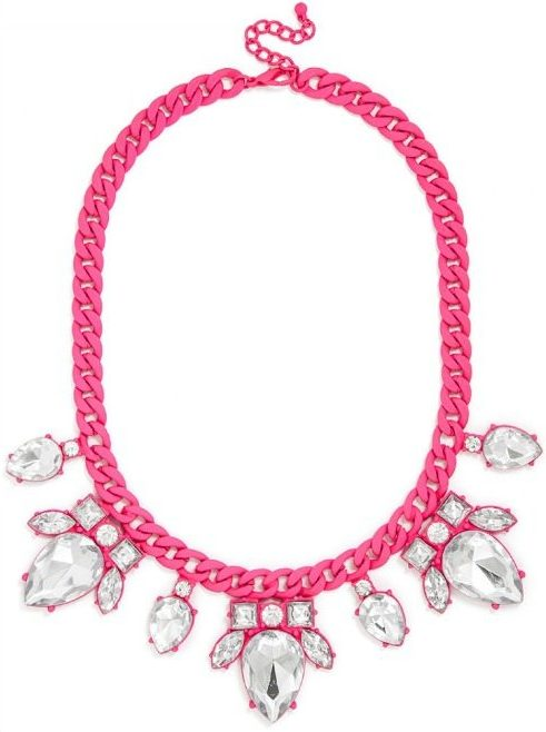 BaubleBar Dipped Scarab Collar in hot pink