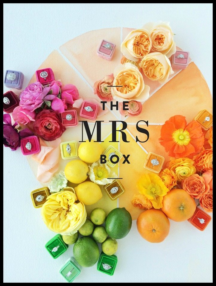 The Mrs. Box a colorful ring box made from antique French velvet.