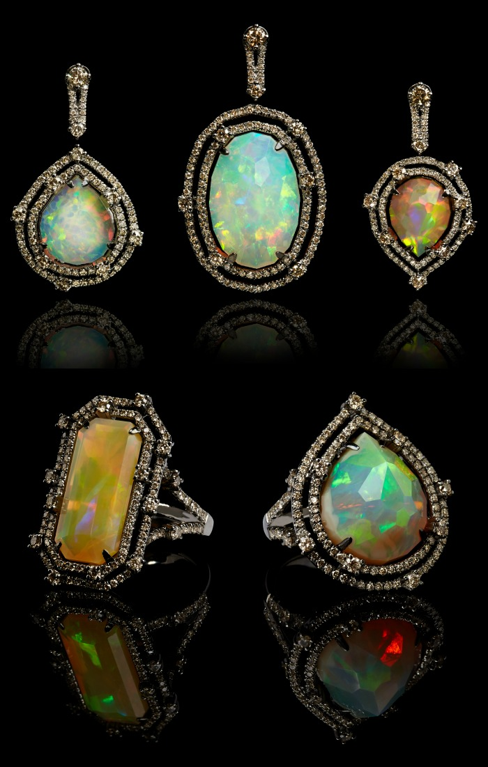 Twenty percent of the profits from this one of a kind Annoushka Ethiopian opal collection go to a charity called Give a Future, which benefits Ethiopian women.