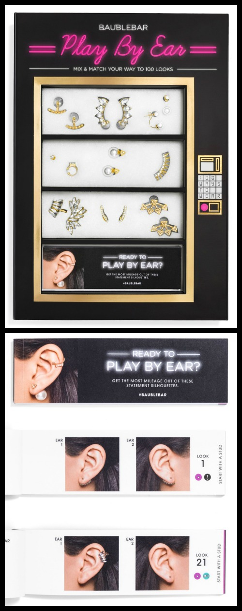 "BaubleBar's mix-and-match ""Play it by Ear"" ear wear gift set."