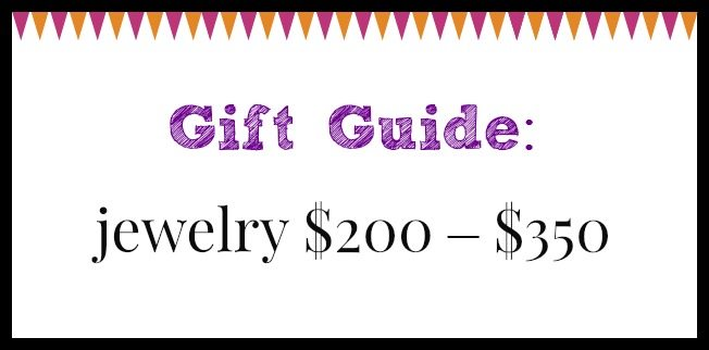 Diamonds in the Library jewelry gift guide; jewelry $200 – $350