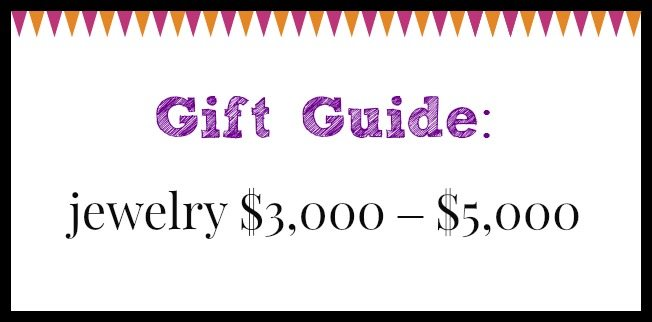 Diamonds in the Library jewelry gift guide; jewelry $3,000 – $5,000