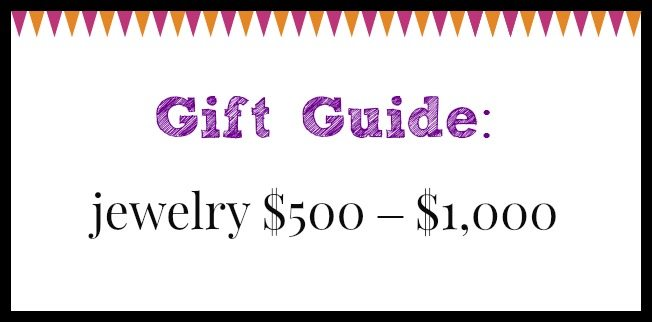 Diamonds in the Library jewelry gift guide; jewelry $500 – $1,000